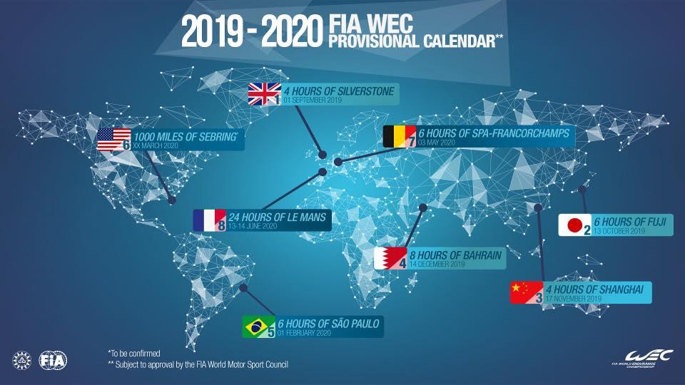Calendario Wrc 2020.Wec Calendar Jack De Keijzer Imperatore Rally Racing Consulting